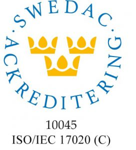 Swedac ackreditering 10045